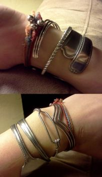 spoon bracelets by paintedmaru