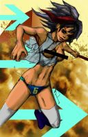 Action girl 1 by VeritasX5