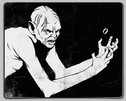 Gollum and The Ring by Jaaaiiro