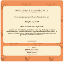 Camp Half-Blood Journal Skin! by ZombieOwl