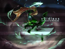 Commission for PC-Doodle - Monofell Undyne by v0idless