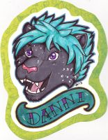 Danni Badge (stream commission) by dragonmelde