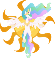 Celestia Sun without glowing by Racefox