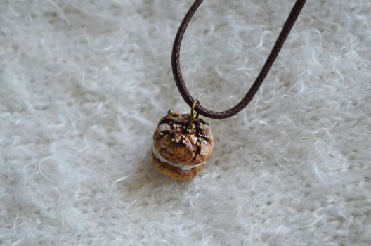 Polymer Clay Creamy Pastry Necklace 02 by Alhys