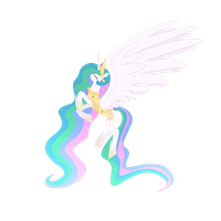 Armored Princess Celestia in Vector by Cromerlock