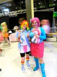 Pinkie Pie and Rainbow Dash by EeveeNyappy