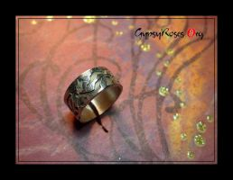 Celtic Knotwork Dog Ring in SS by che4u