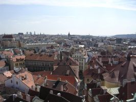 Prague - Rooftops by trelliastock
