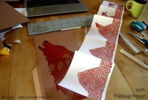 THALLEAG - Project of Silk Screen - WIP by sarya-atelier
