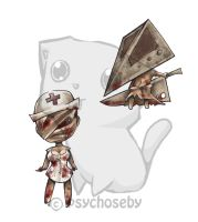 silent hill keychains by psychoseby