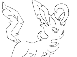 Pokemon Line art 1 (Leafeon) by lineart4you