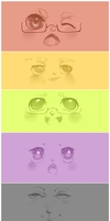 .:All Dem Faces:. by Pieology