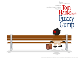 Fuzzy Gump: Wallpaper by jellybeansoup