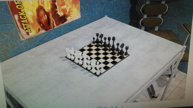 Fallout Room: Chess Board by Cpt-Cuttlefish