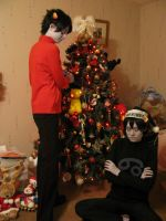 ChristmaStuck: A very Vantas Christmas by Invader-Jay