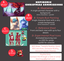 December Commissions 2015 by Kepidemic