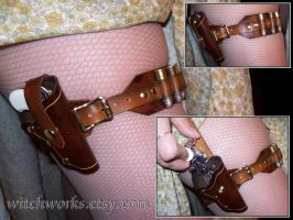 Steampunk Br Derringer Garter by Steampunked-Out
