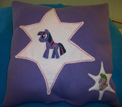 Twilight Sparkle and Spike plush pillow by grandmoonma