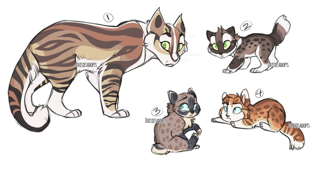 Mother and kittens | Adoptable auction | CLOSED by DaisiesAdopts