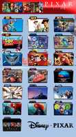 Disney Pixar Complete Collection Folder Icon Pack by wchannel96