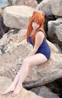 Asuka School Swimsuit by FeryLullaby