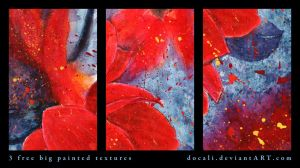 3 Free Big Painted Textures by Docali