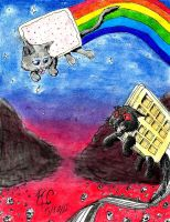 NYAN CAT VS TACNAYN by Morvakus