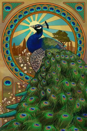 Art Nouveau Peacock by Chronoperates