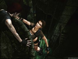 TR: Doppelganger and Lara by Halli-well