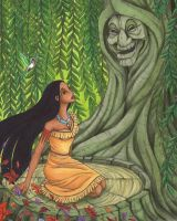 With grandmother willow by Ganjamira