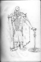 indian druid with pencil by varijani