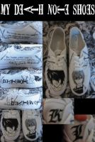 costum death note shoes by bro0017