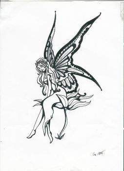 Flower fairy tatoo by DissyButterfly