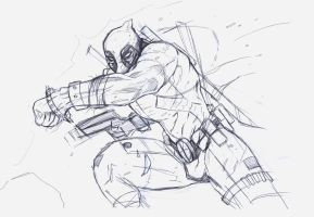 deadpool sketch by suspension99