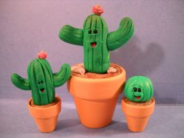 Cactus trio by Mindslave24-7
