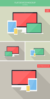 Freebie - Flat Device Screens Mockup by GraphBerry