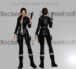 Lara Croft Heavy Black Biker DL | XNALara by Rockeeterl