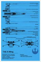 X-Wing Blueprint - Star Wars by Euskera