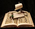 Tom Sawyer Book Sculpture by wetcanvas