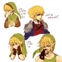 LoZ -- Some linkies by onisuu