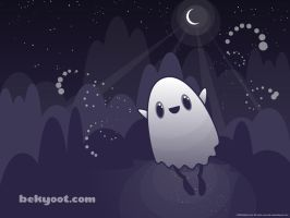 Bu the Ghost - Wallpaper by lafhaha