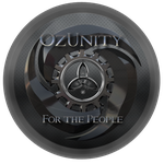 OzUnity Black Sticker by miguelsanchez666