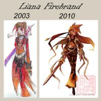 Then and now- Liana Firebrand by ben-ben