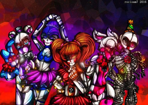 FNAF Sister Location (+Speedpaint) by rocioam7