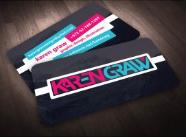 Karen Graw Business Card Design Concept 1 by Avalonis