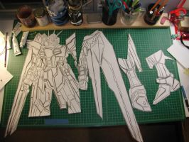 Gundam Sticker Unassembled by truemarmalade