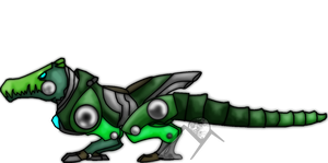 REQUEST:Alligator Mecha Beast by Hills-to-Sky