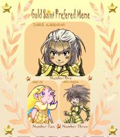 Gold Saint Meme by MZ15