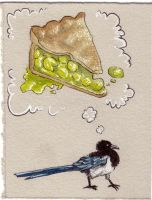 Mag Pie Card by Quilsnap