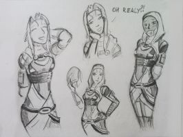 sketches Tali (80) by spaceMAXmarine
